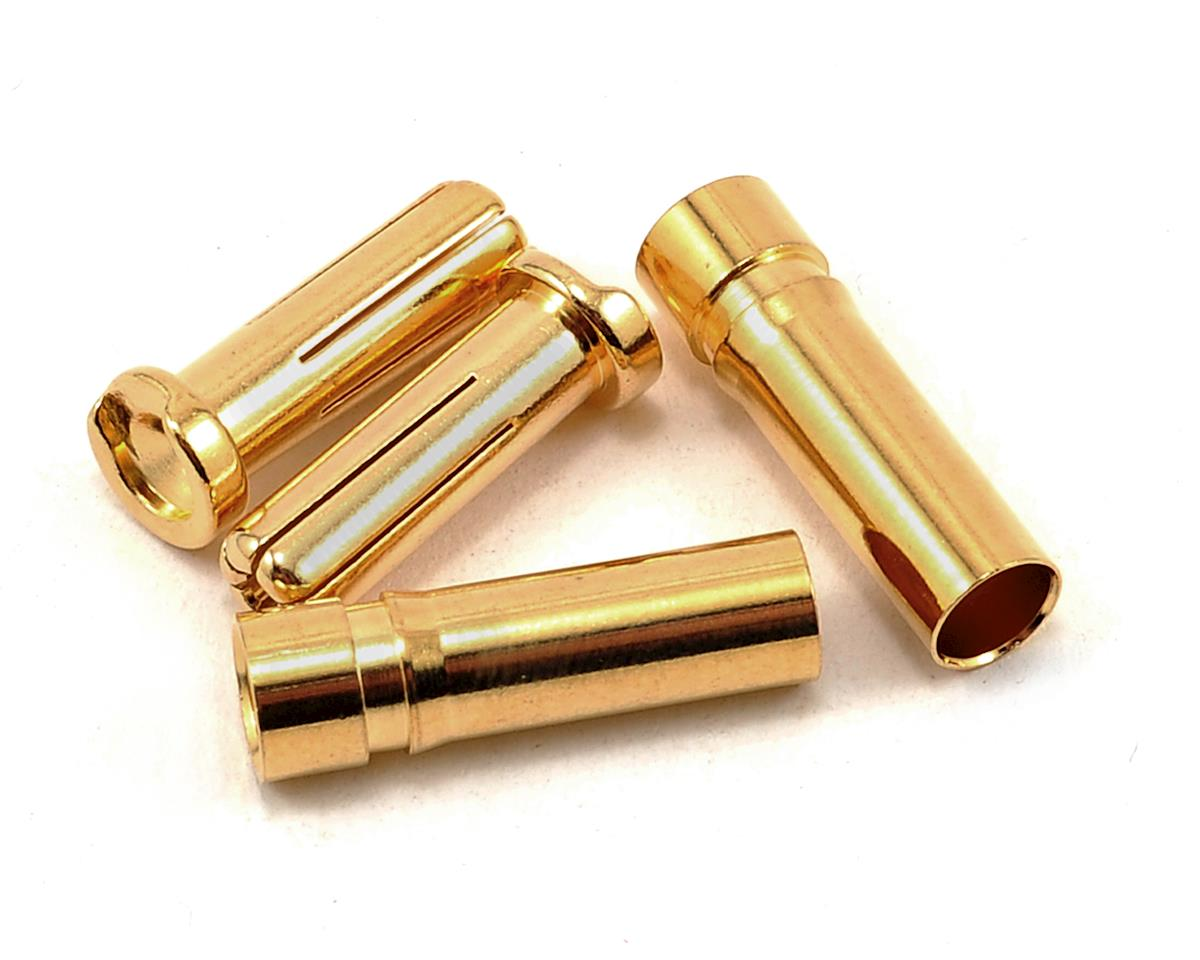 "5.0mm ""Super Bullet"" Solid Gold Connectors (2 Male/2 Female) by ProTek RC"
