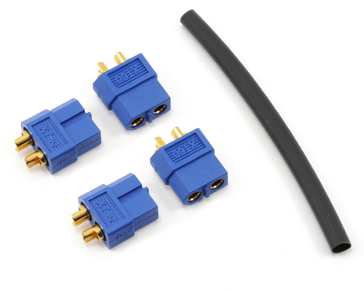 "3.5mm ""TruCurrent"" XT60 Polarized Battery Connectors (4 Female) by ProTek RC"