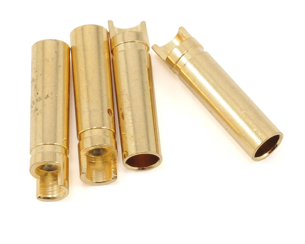 "4.0mm ""Super Bullet"" Solid Gold Connectors (4 Female) by ProTek RC"