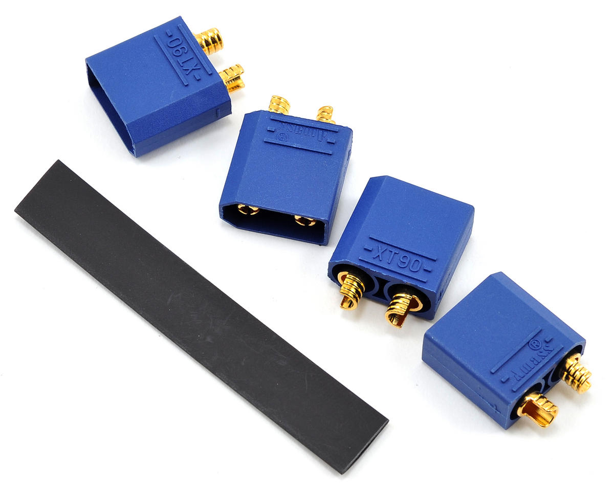 "4.5mm ""TruCurrent"" XT90 Polarized Device Connectors (4 Male) by ProTek RC"