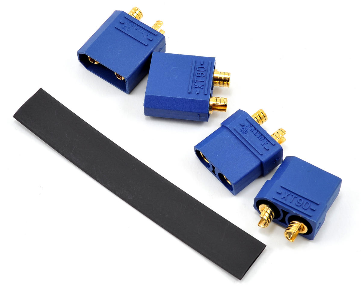 "4.5mm ""TruCurrent"" XT90 Polarized Connectors (2 Male/2 Female) by ProTek RC"