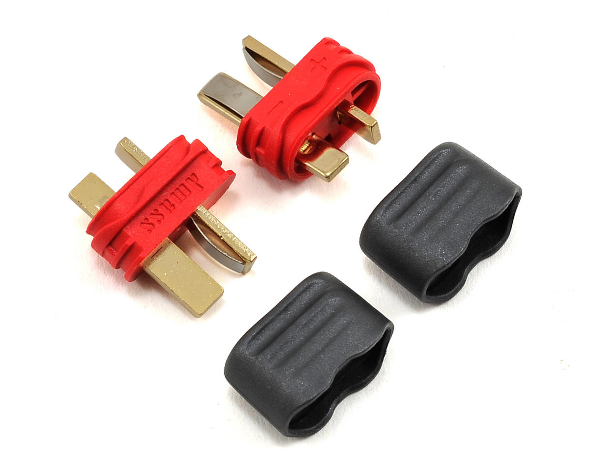 Sheathed T-Style Plug (2 Male) by ProTek RC