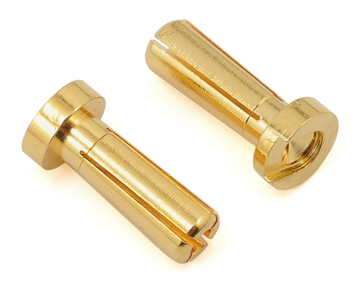 "4mm Low Profile ""Super Bullet"" Solid Gold Connectors (2 Male) by ProTek RC"
