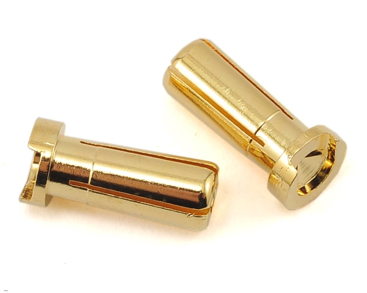 "Low Profile 5mm ""Super Bullet"" Solid Gold Connectors (2 Male) by ProTek RC"