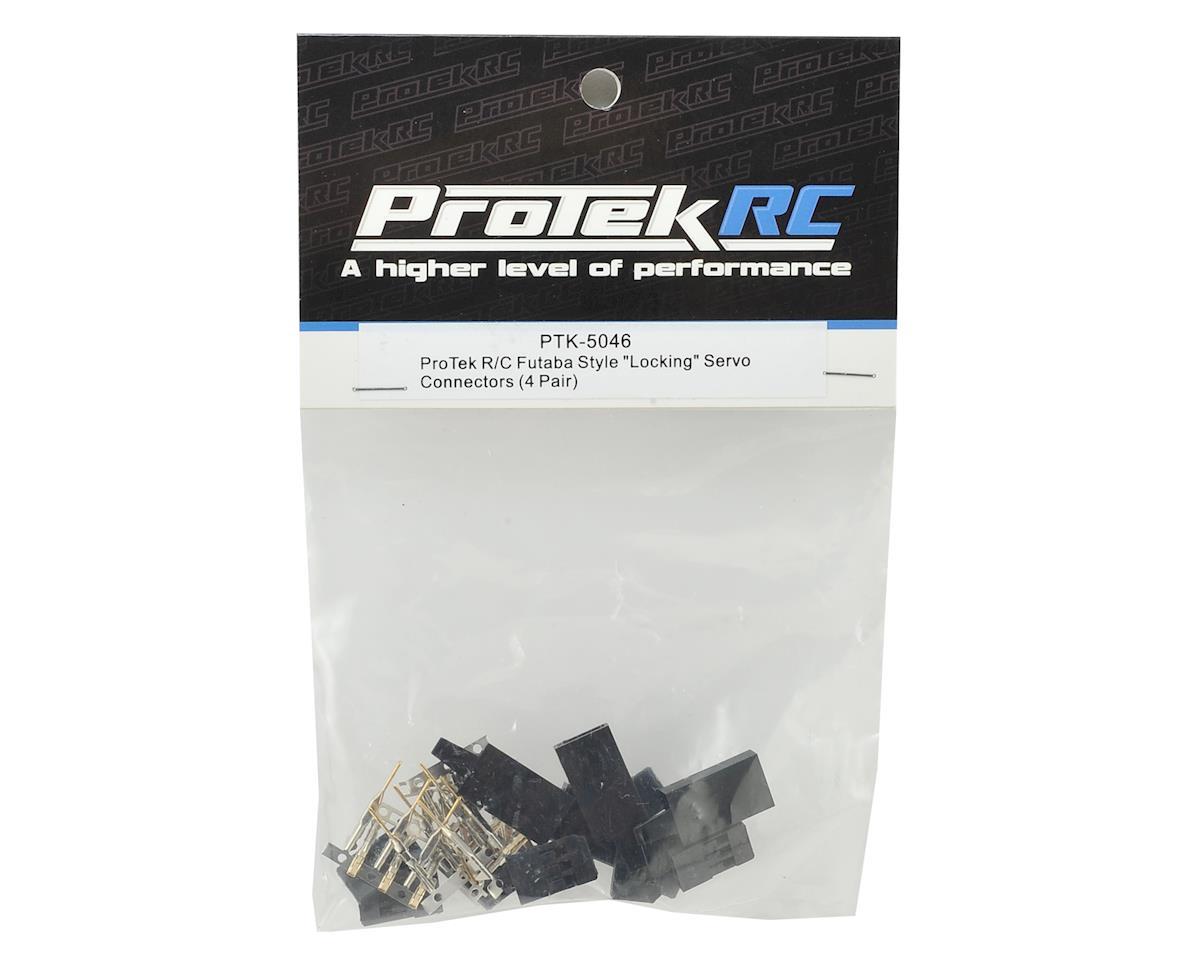 "Futaba & JR Style ""Locking"" Servo Connectors (4 Pair) by ProTek RC"