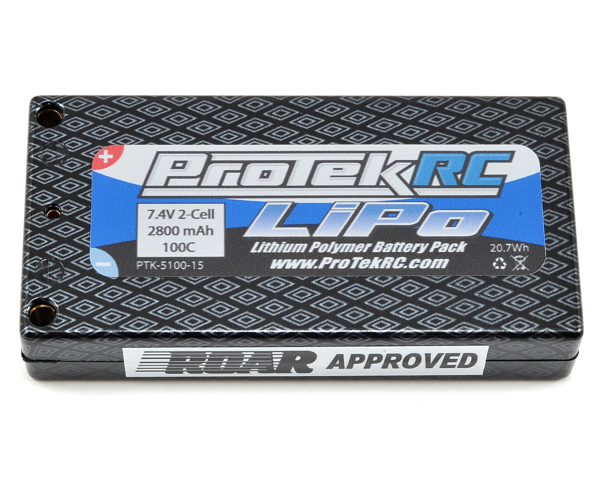 ProTek RC 2S 100C X-Light Shorty LiPo Battery Pack (4mm) (7.4V/2800mAh)