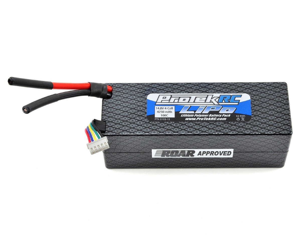 "ProTek RC 4S ""Supreme Power"" LiPo 100C Hard Case Battery Pack (14.8V/4250mAh)"