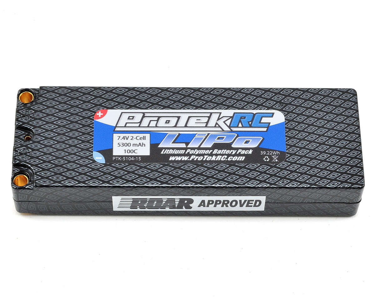 ProTek RC 2S 100C Hard Case LiPo Battery Pack (5mm) (7.4V/5300mAh)