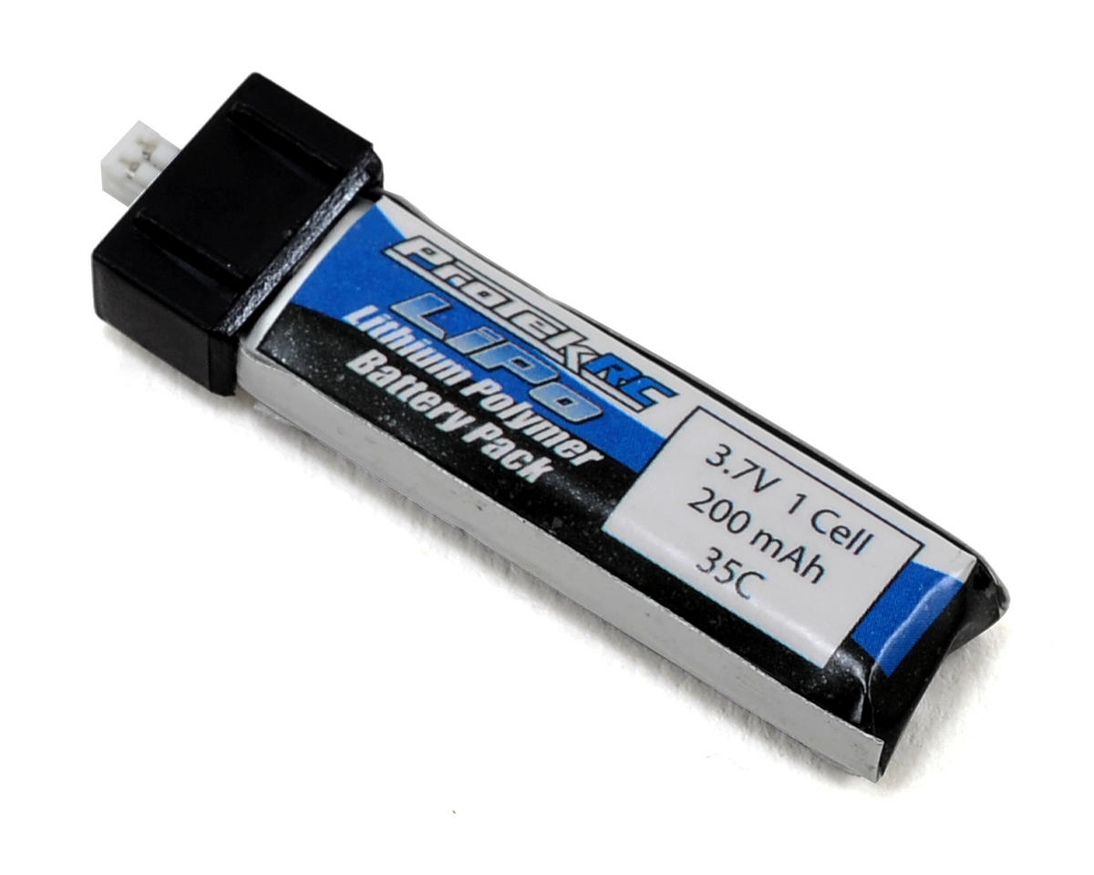 "ProTek RC 1S ""High Power"" LiPo Micro 35C Battery Pack (3.7V/200mAh) (Blade mCX/mCX2)"