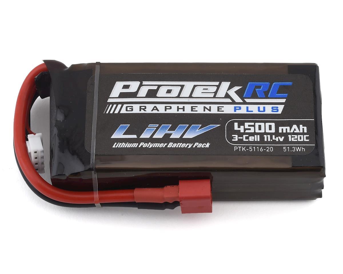 ProTek RC 3S 120C Low IR Si-Graphene HV Shorty LiPo Battery 11.4V 4500mAh Crawler Pack with T-Style Plug PTK-5116-20