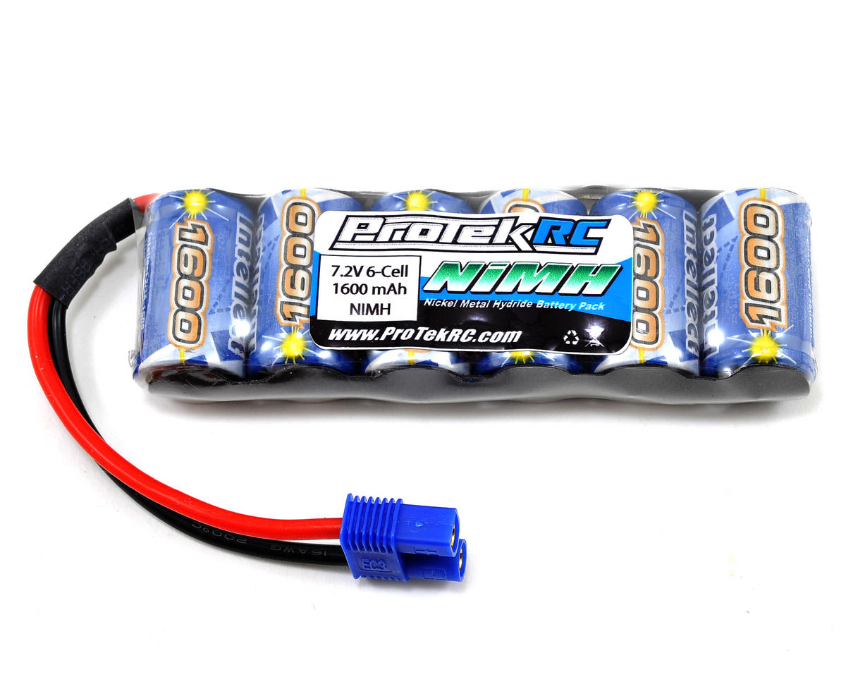 ProTek RC 6-Cell 7.2V Speed Intellect NiMH Battery (IB1600, EC3 Connector) (Losi Mini 8IGHT-T)