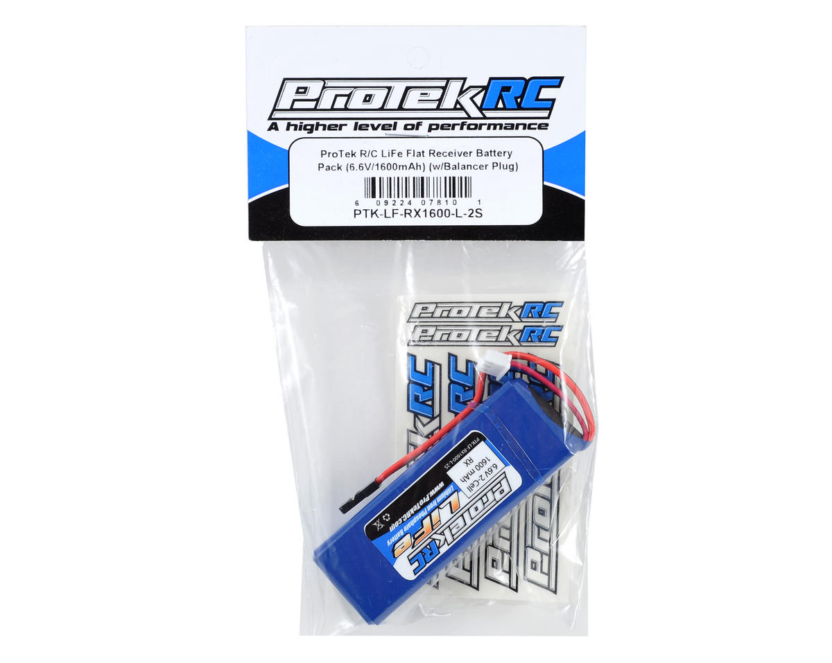 ProTek RC LiFe Mugen & AE Receiver Battery Pack (6.6V/1600mAh) (w/Balancer Plug)