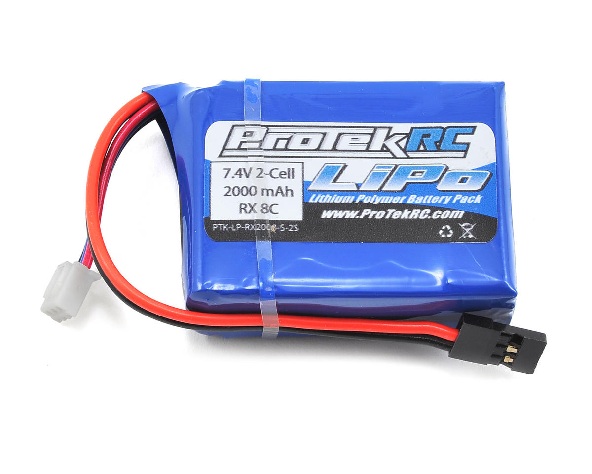 LiPo HB & Losi 8IGHT Receiver Battery Pack (7.4V/2000mAh) by ProTek RC