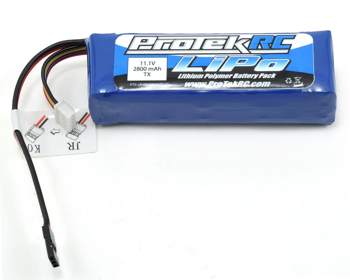 ProTek RC LiPo Transmitter Battery Pack (11.1V/2800mAh) (Futaba/JR/Spektrum/KO)