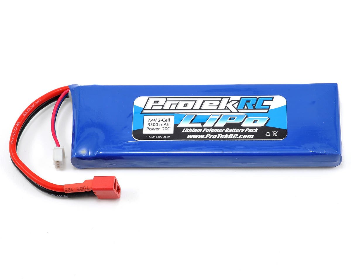 2S LiPo 20C Battery Pack (7.4V/3300mAh) (Receiver Battery) by ProTek RC