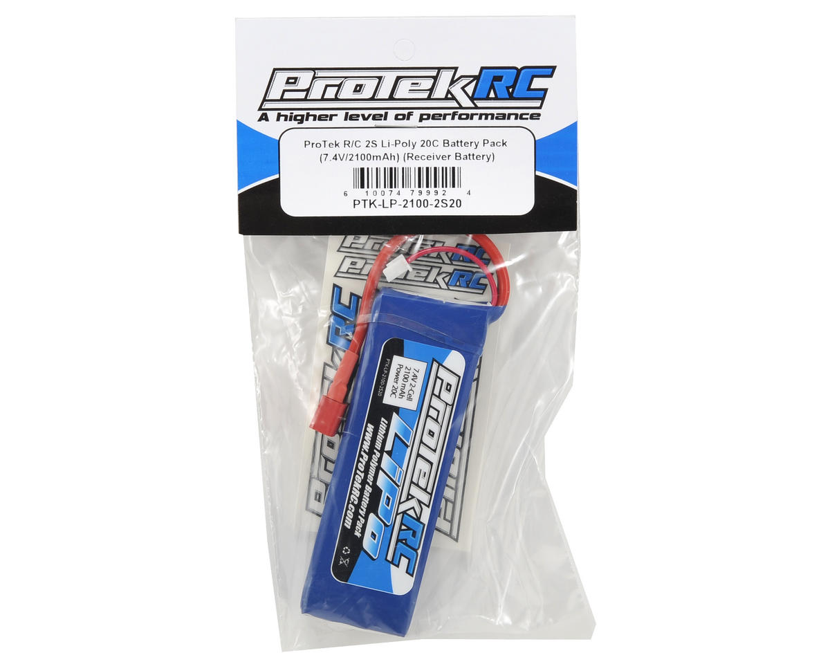 ProTek RC 2S LiPo 20C Battery Pack (7.4V/2100mAh) (Receiver Battery)