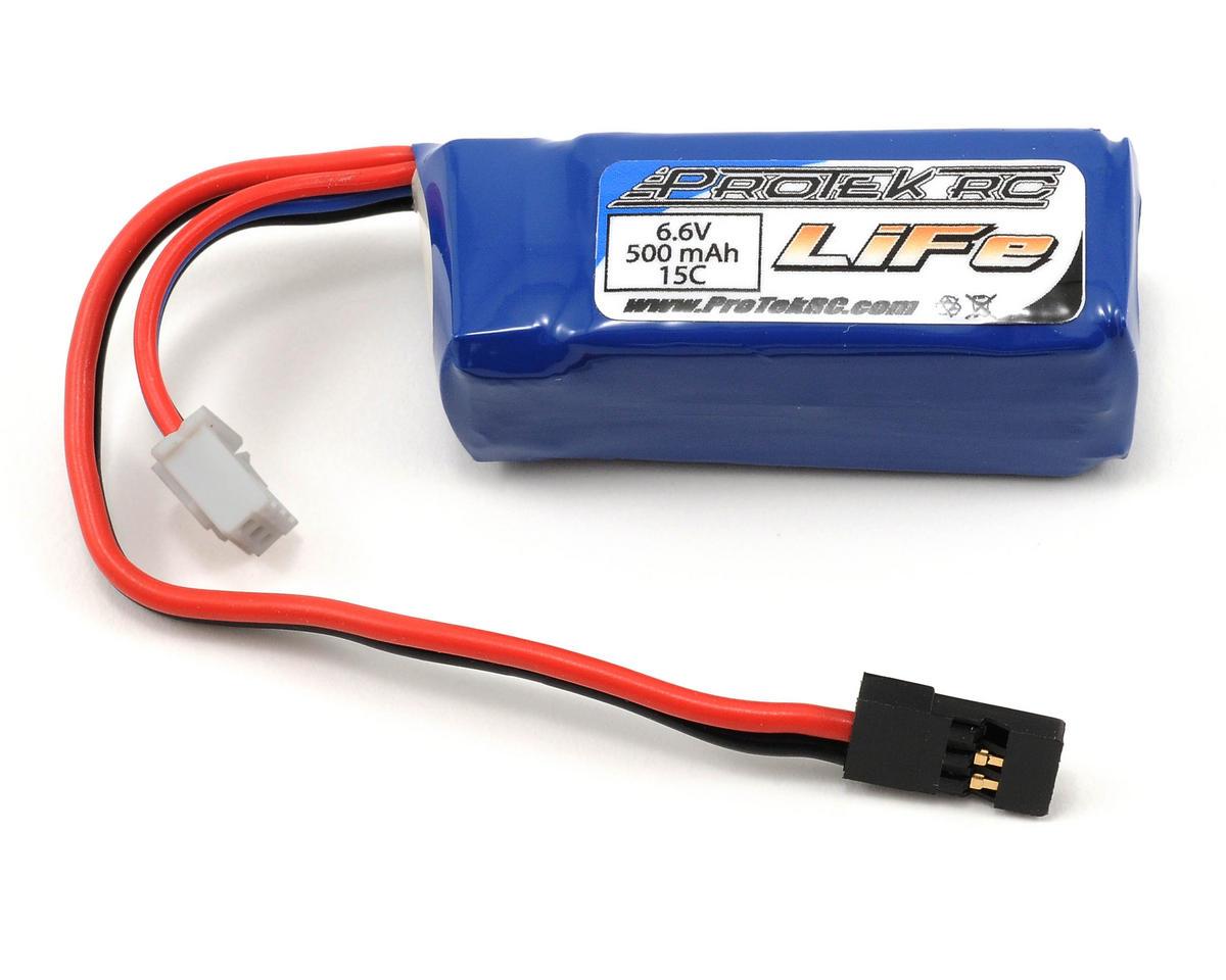 LiFe 15C Stick Battery Pack (6.6V/500mAh) by ProTek RC
