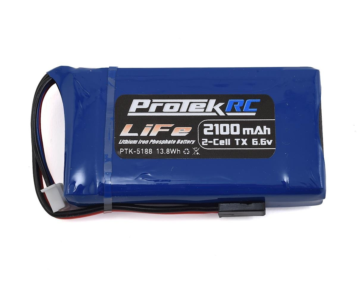 LiFe 4PK/4PX/4PV Transmitter Battery Pack (6.6V/2100mAh) by ProTek RC