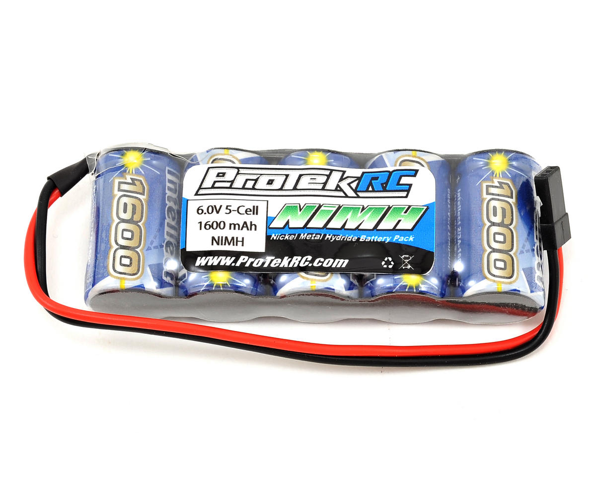 ProTek RC 5-Cell 6.0V NiMH Intellect Stick Receiver Pack (IB1600)