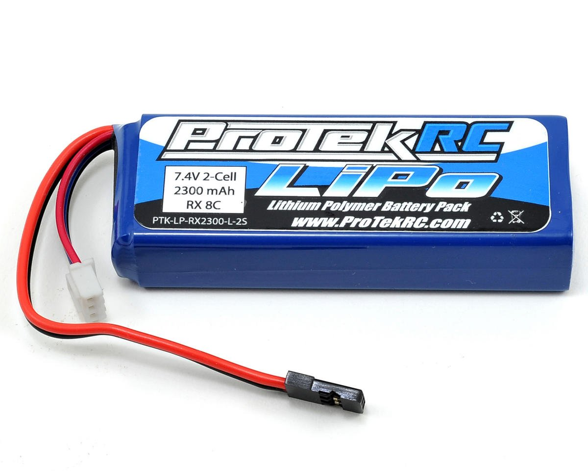 LiPo Receiver Battery Pack (7.4V/2300mAh) (Mugen/Associated) by ProTek RC (Team Associated RC8B3)