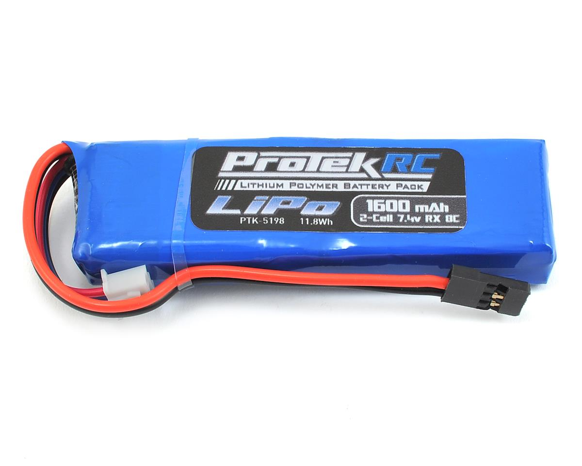 Protek Rc Lightweight Lipo Receiver Battery Pack 74v 1600mah Balancer Seven Segments Mugen Ae Xray W Balance Plug