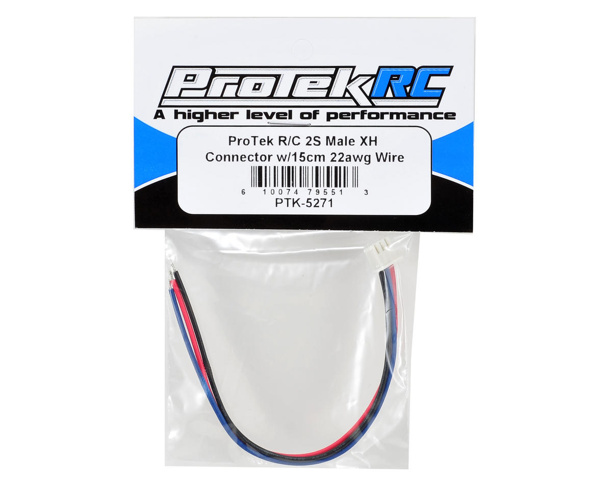 ProTek RC 2S Male XH Connector w/15cm 22awg Wire