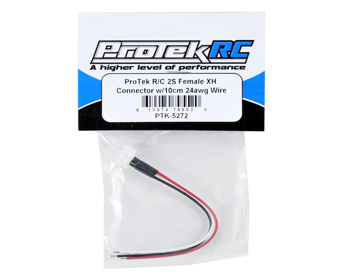 ProTek RC 2S Female XH Connector w/10cm 24awg Wire