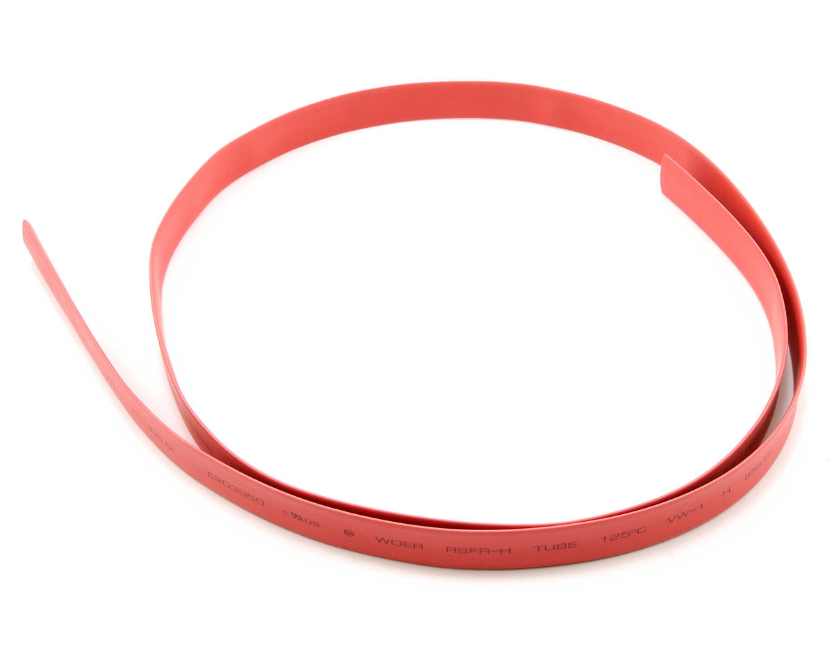 8mm Red Heat Shrink Tubing (1 Meter) by ProTek RC