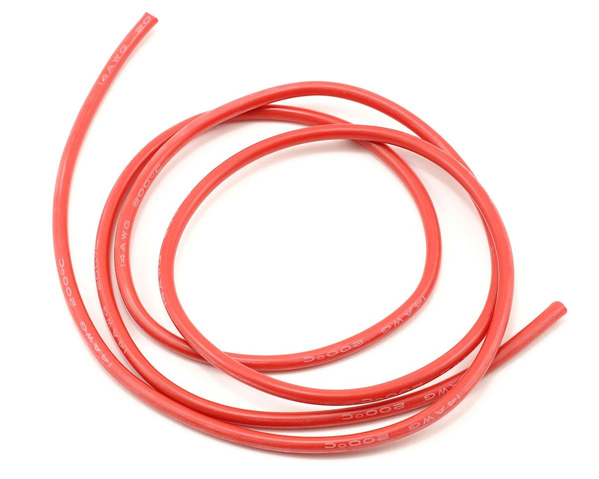 ProTek RC 14awg Red Silicone Hookup Wire (1 Meter) [PTK-5602]   Cars ...