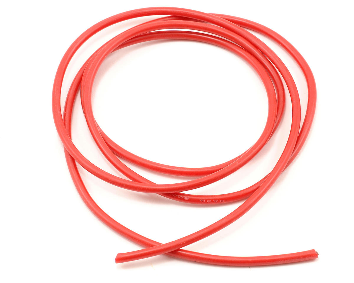 18awg Red Silicone Hookup Wire (1 Meter) by ProTek RC