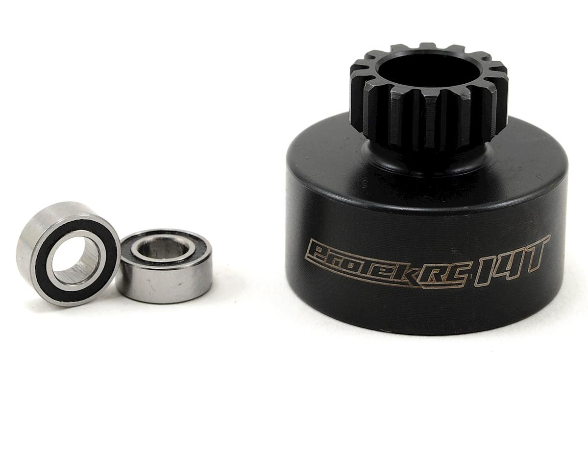 Hardened Clutch Bell w/Bearings (14T) (Mugen/OFNA Style) by ProTek RC