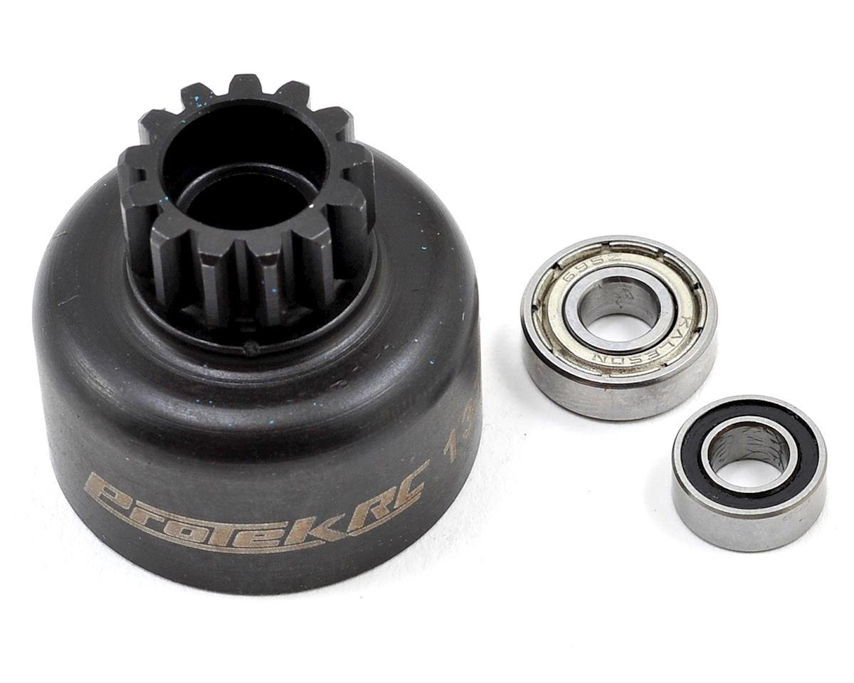 Hardened Clutch Bell w/Bearings (13T) (Losi 8IGHT Style) by ProTek RC