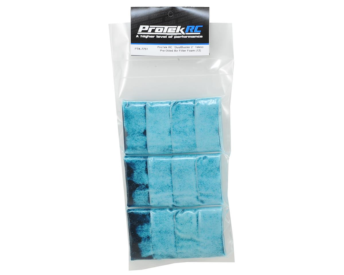 "ProTek RC ""DustBuster 2"" Tekno Pre-Oiled Air Filter Foam (12)"