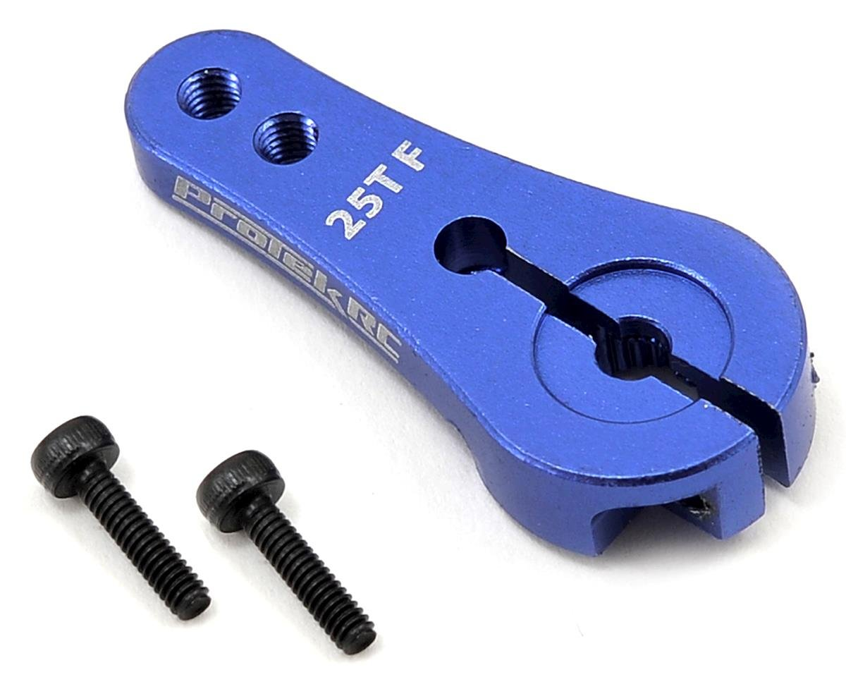 team associated rc8 2e replacement parts cars trucks amain protek rc 4mm aluminum long clamp lock servo horn blue 25t