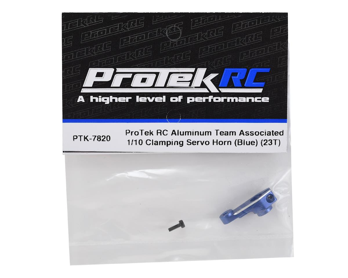 ProTek RC Aluminum Team Associated 1/10 Clamping Servo Horn (Blue) (23T)