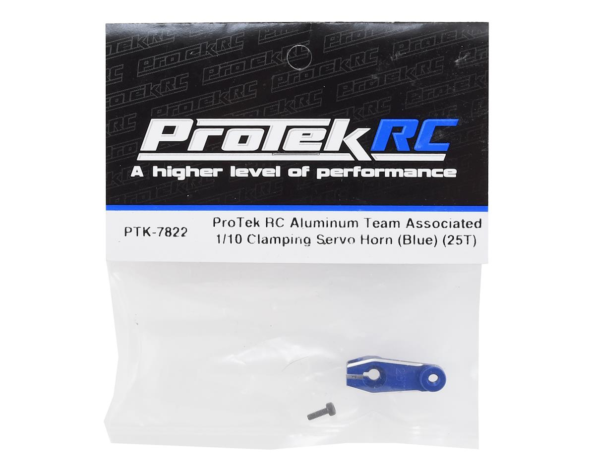 ProTek RC Aluminum Team Associated 1/10 Clamping Servo Horn (Blue) (25T)