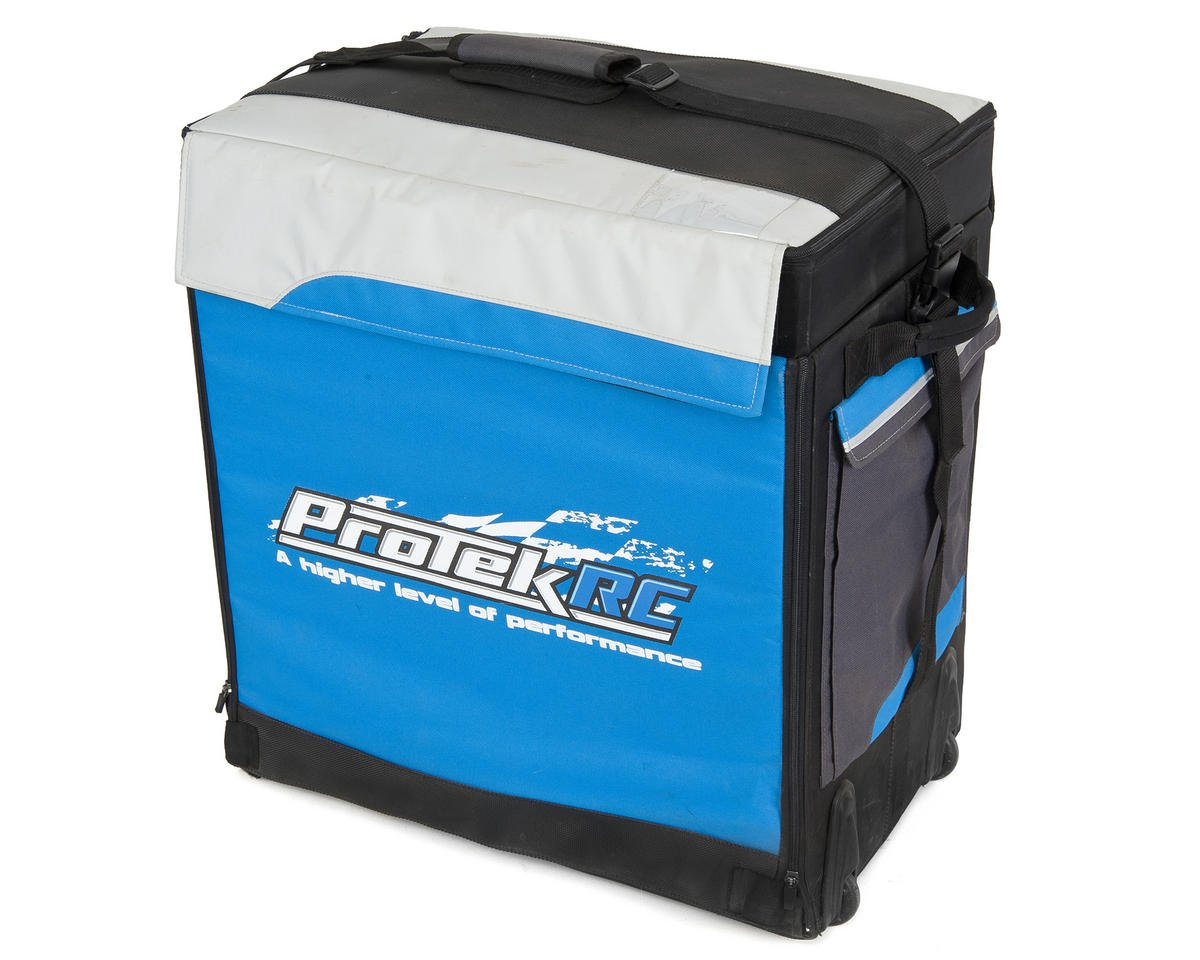 ProTek RC P-8 1/8 Buggy Super Hauler Bag (Plastic Inner Boxes) (Bright Blue)
