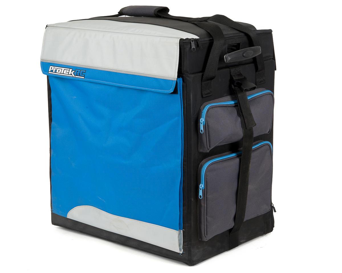 ProTek RC P-8 1/8 Buggy Super Hauler Bag (Plastic Inner Boxes) (Bright Blue)