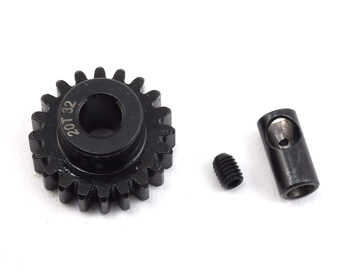 Steel 32P Pinion Gear w/3.17mm Reducer Sleeve (Mod .8) (5mm Bore) (20T) by ProTek RC