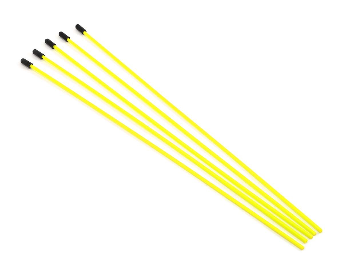ProTek RC Antenna Tube w/Caps (Flo Yellow) (5)