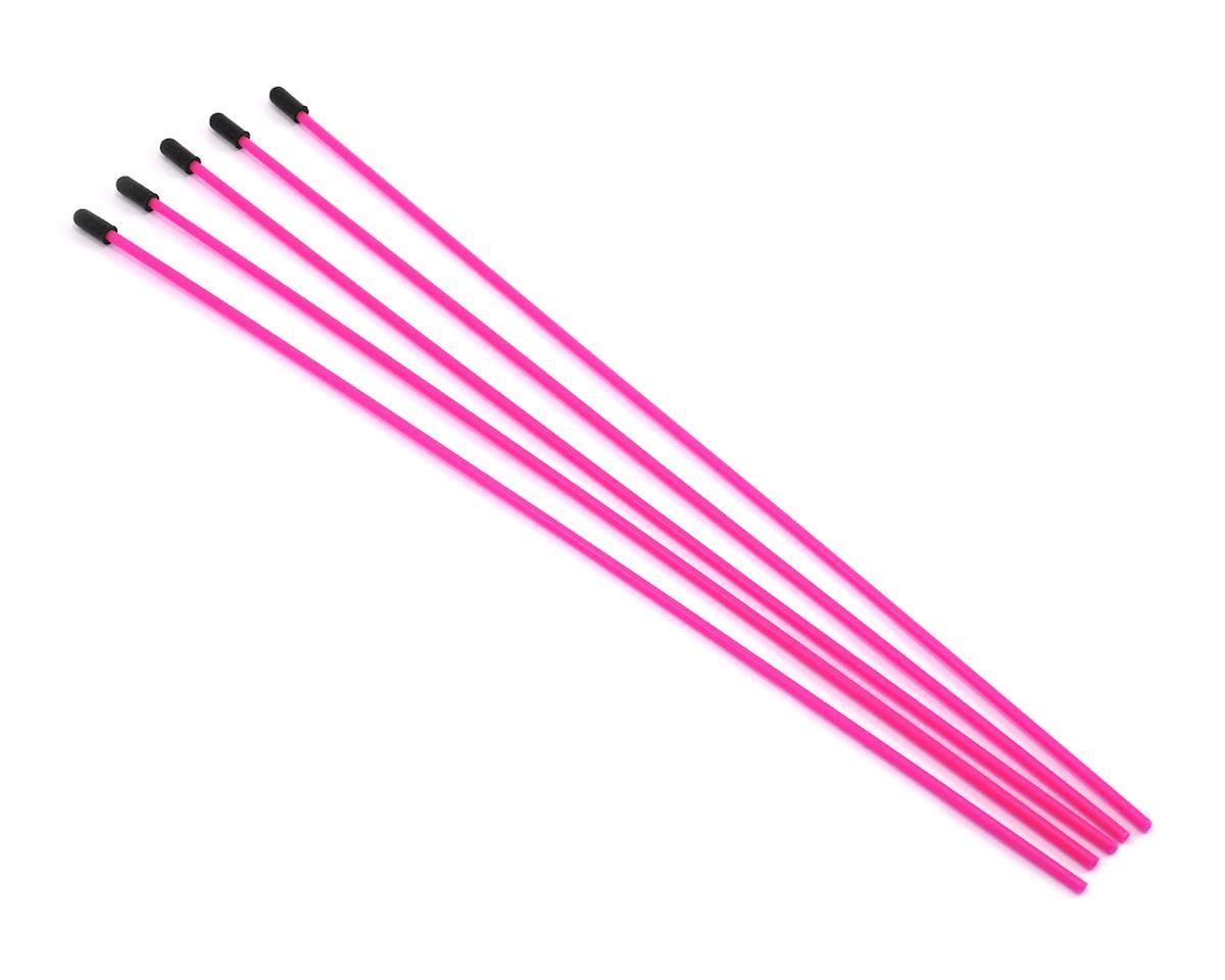 ProTek RC Antenna Tube w/Caps (Flo Pink) (5)