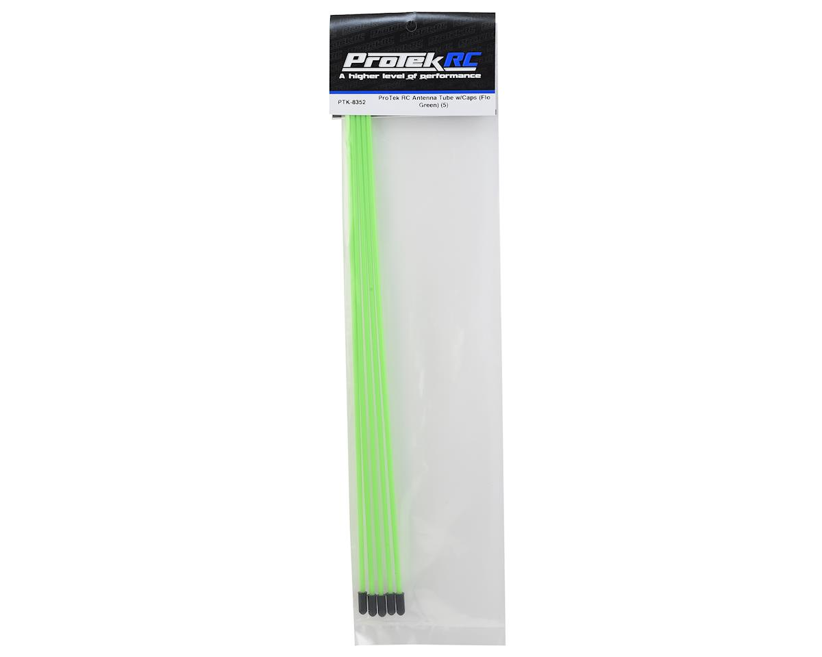 ProTek RC Antenna Tube w/Caps (Flo Green) (5)