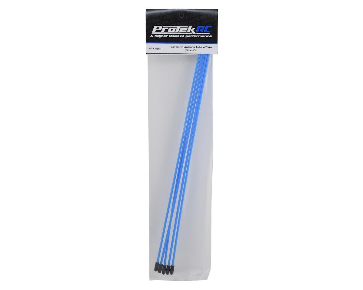 ProTek RC Antenna Tube w/Caps (Blue) (5)