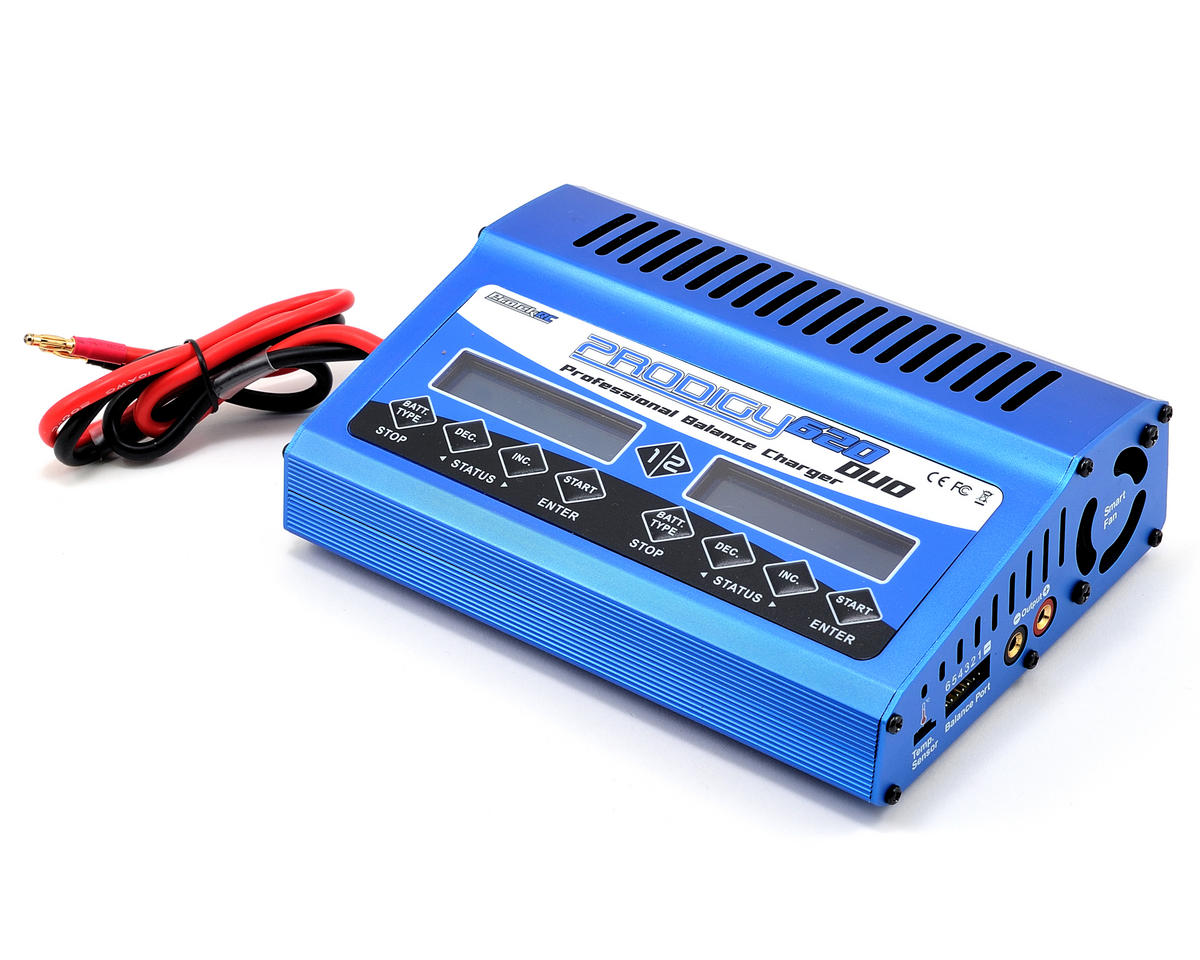"ProTek RC ""Prodigy 620 DUO"" LiPo/LiFe/NiMH DC Battery Charger (6S/20A/400W x 2)"
