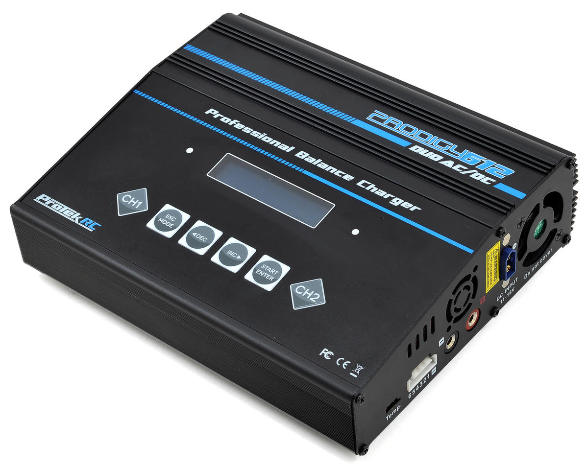 Prodigy 612 DUO AC LiHV/LiPo AC/DC Battery Charger (6S/12A/100W x 2) by ProTek RC