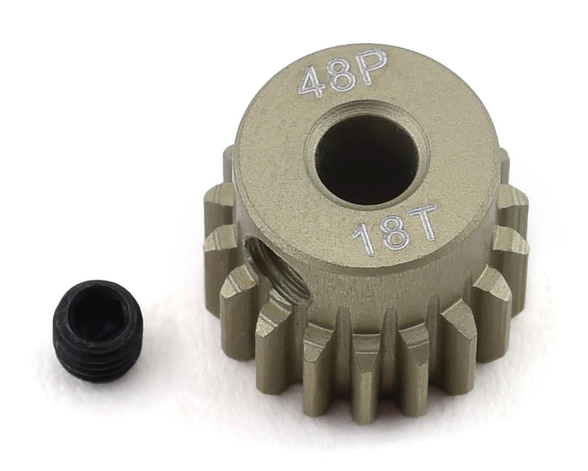 ProTek RC 48P Lightweight Hard Anodized Aluminum Pinion Gear (3.17mm Bore) (18T) | alsopurchased