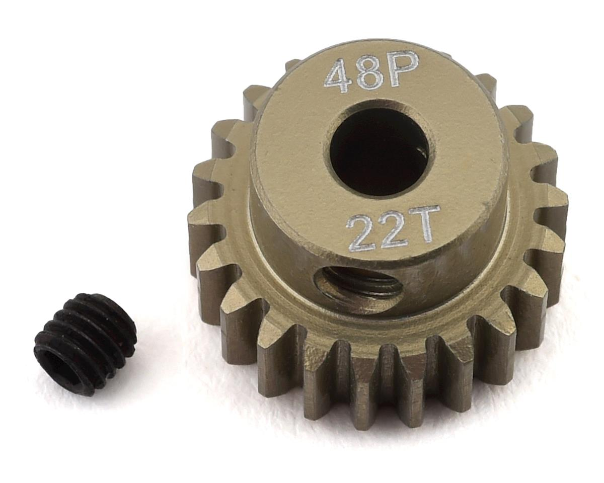 ProTek RC 48P Lightweight Hard Anodized Aluminum Pinion Gear 3.17mm Bore 22T 8609