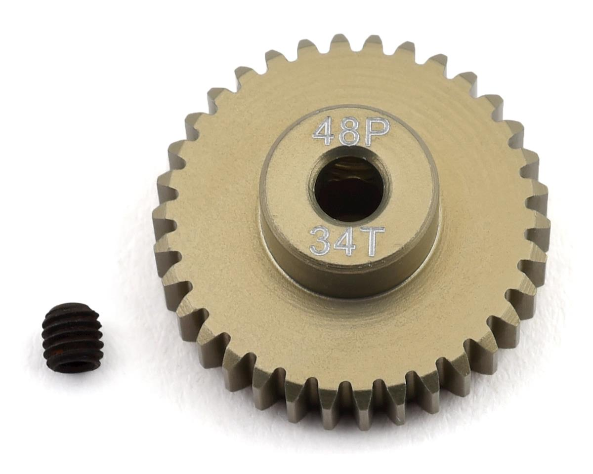 ProTek RC 48P Lightweight Hard Anodized Aluminum Pinion Gear (3.17mm Bore) (34T)