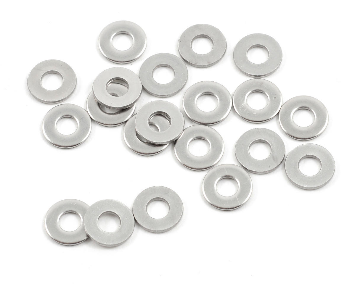 """#6 - 3/8"""" """"High Strength"""" Stainless Steel Washers (20) by ProTek RC"""