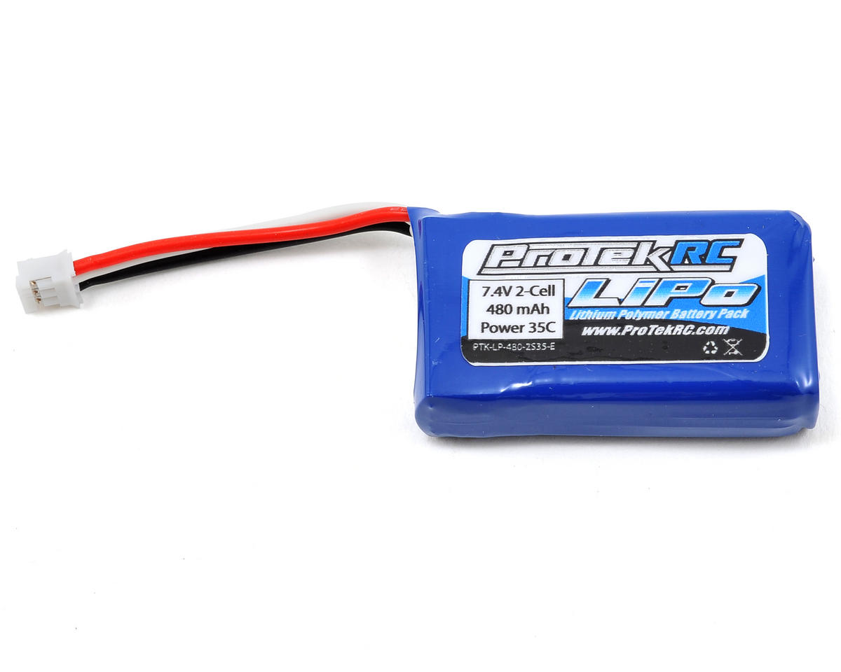 "ProTek RC 2S ""High Power"" Li-Poly 35C Battery Pack (7.4V/480mAh) (Blade 130X)"